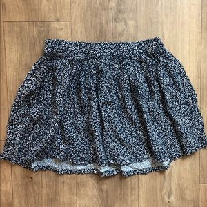 H&M Mini Skirt in Floral Blue